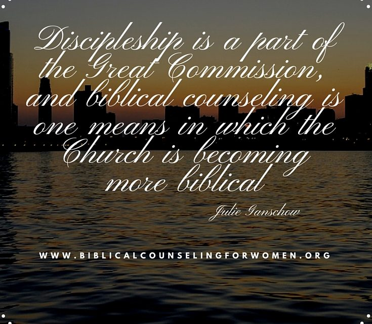 Biblical Counseling Is Part of the Great Commission
